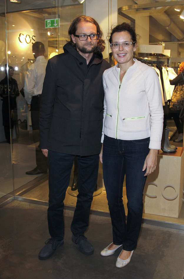 Agata Passent i Wojciech Kuczok na promocji sklepu /AKPA