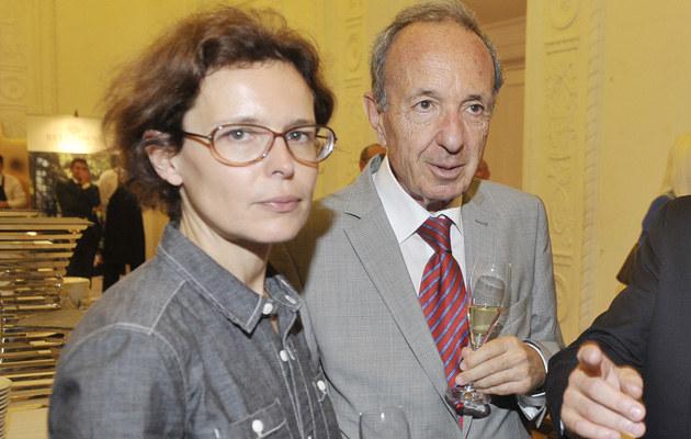 Agata Passent z ojcem Danielem Passentem /Niemiec /AKPA