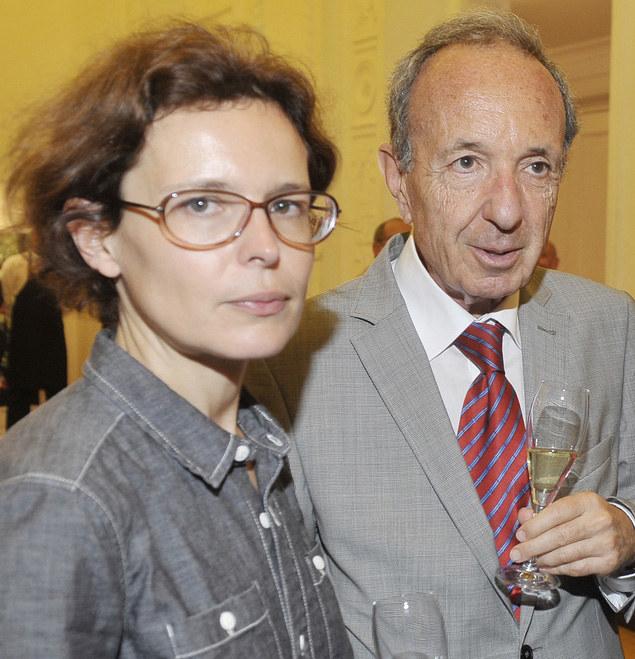 Agata Passent ze swoim znanym ojcem, Danielem Passentem /Niemiec /AKPA