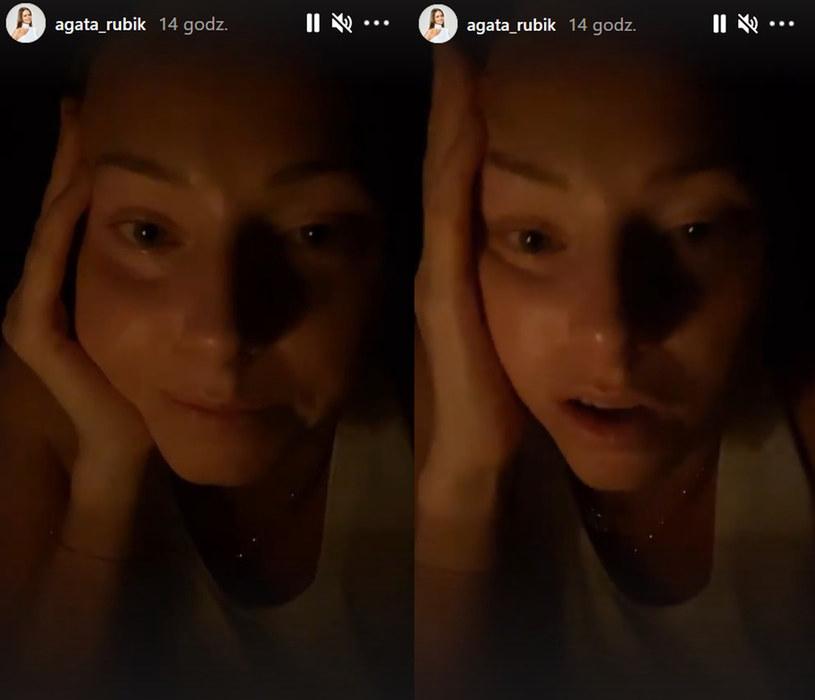 Agata Rubik nie kryła smutku /Screen z instastory https://www.instagram.com/agata_rubik /Instagram