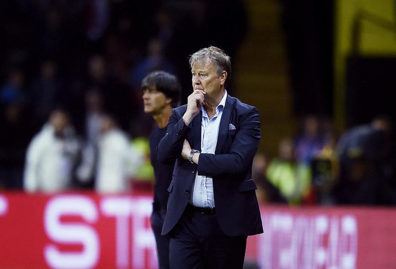Age Hareide, trener reprezentacji Danii /LISELOTTE SABROE    /AFP