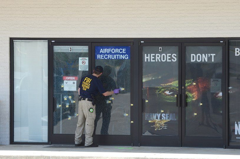 Agent FBI na miejscu zdarzenia /AFP