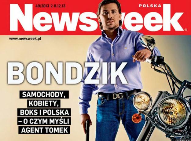 Agent Tomek w całej okazałości... /Najnowsza okładka Newsweeka. /