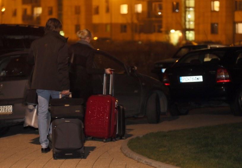 Agent Tomek z żoną /Tomasz Radzik/Agencja SE /East News