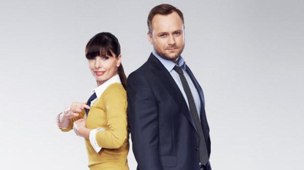 Agnieszka Dygant (Agata ) i Leszek Lichota (Marek). /TVN
