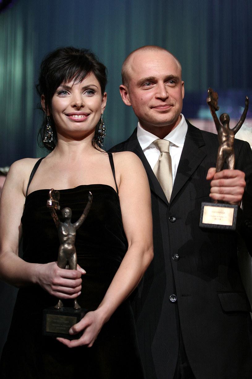 Agnieszka Dygant i Piotr Adamczyk otrzymali Telekamery Tele Tygodnia w 2006 roku /AKPA