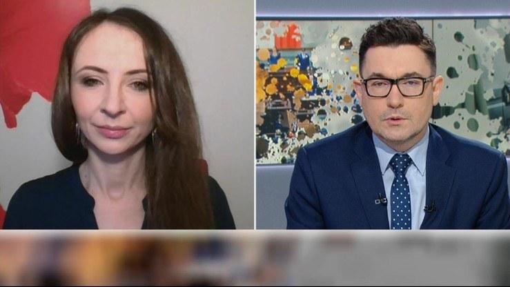 """Agnieszka Dziemianowicz-Bąk w """"Graffiti"""" /Polsat News"""