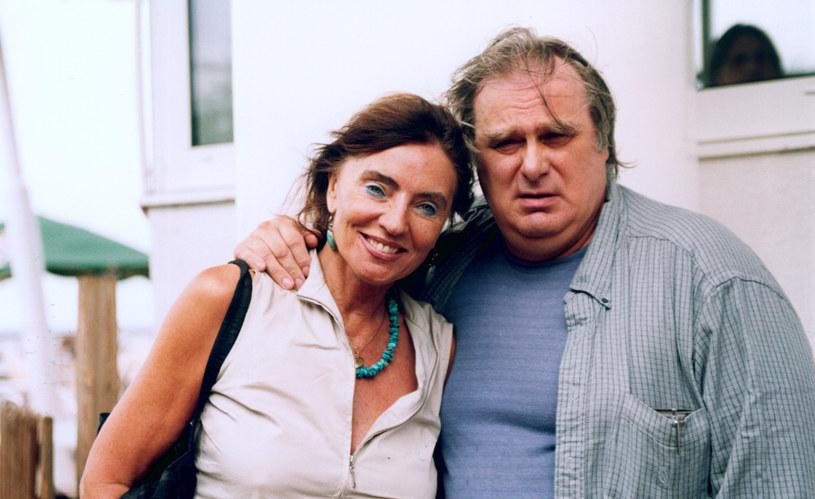 Agnieszka Fitkau-Perepeczko i Marek Perepeczko w 2002 roku /AKPA