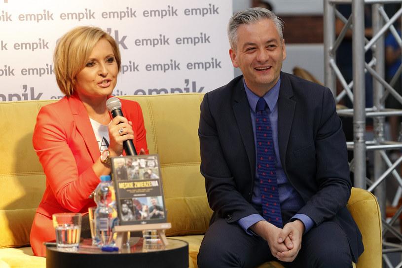 Agnieszka Gozdyra i Robert Biedroń /Zawadzki /East News