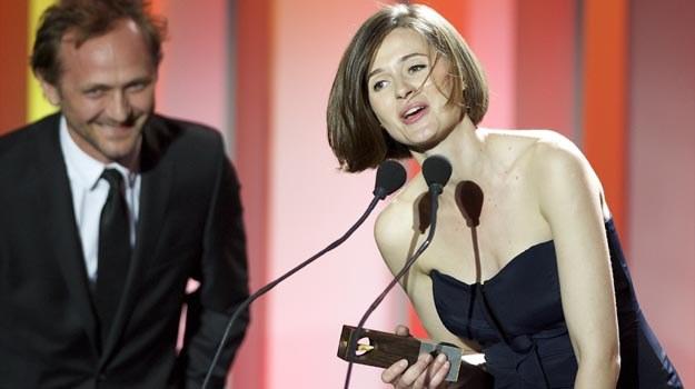 """Agnieszka Grochowska (""""W ciemności"""") z nagrodą dla najlepszej aktorki Gdynia Film Festival. /PAP"""