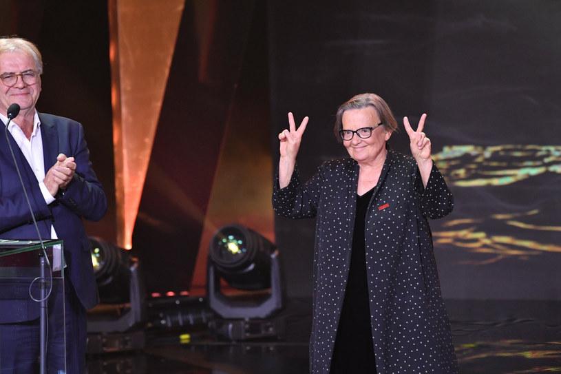 Agnieszka Holland jest pierwszą kobietą, która otrzymała Platynowe Lwy. /Wojciech Stróżyk /Reporter