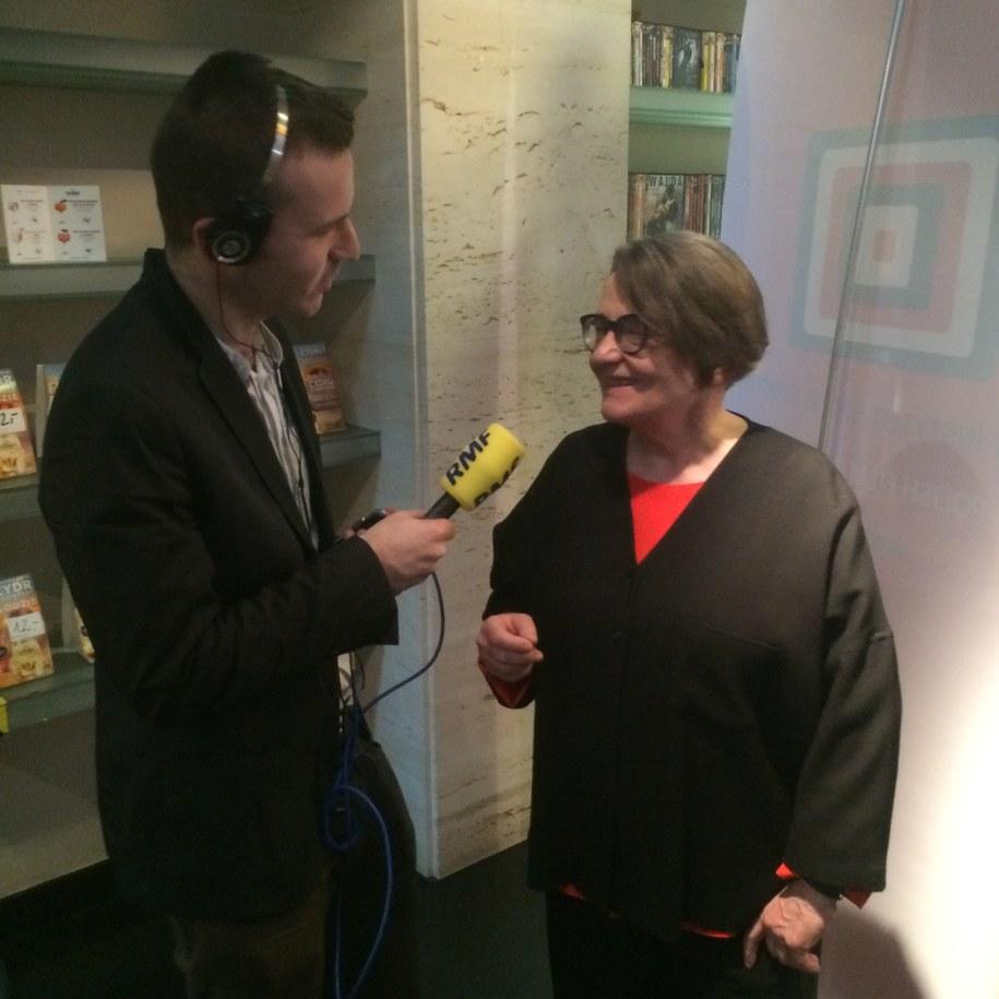 Agnieszka Holland wraz z naszym dziennikarzem /RMF FM