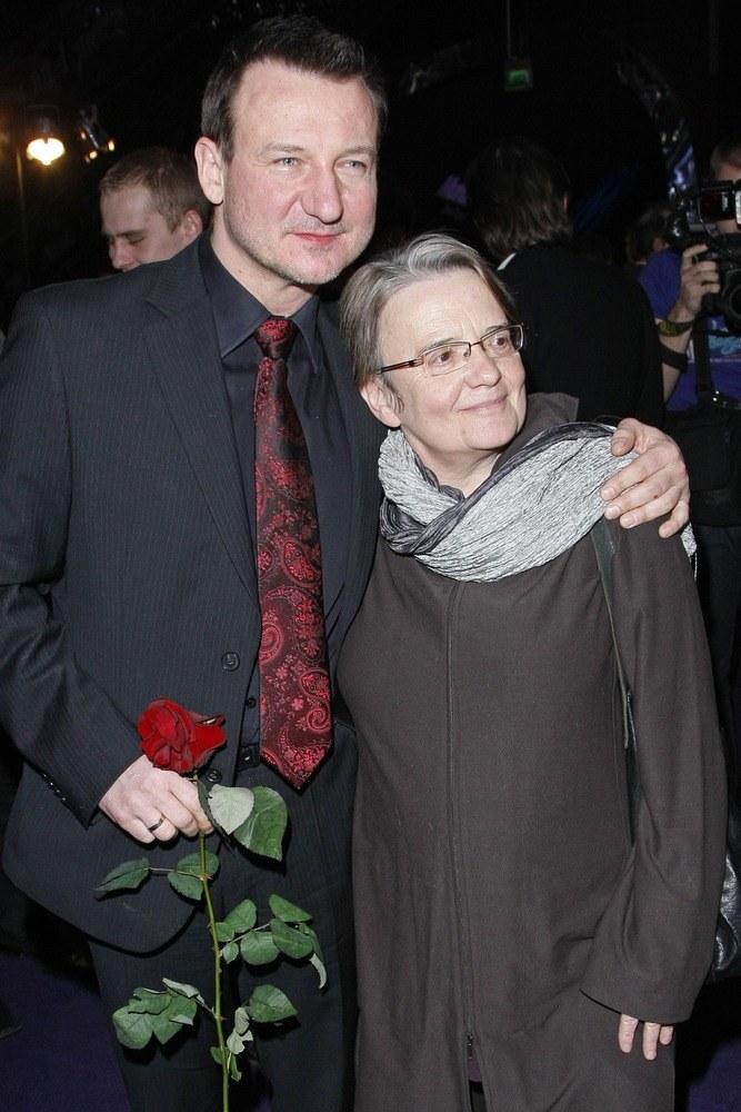 Agnieszka Holland z Robertem Więckiewiczem  /Andrzej Engelbrecht /AKPA