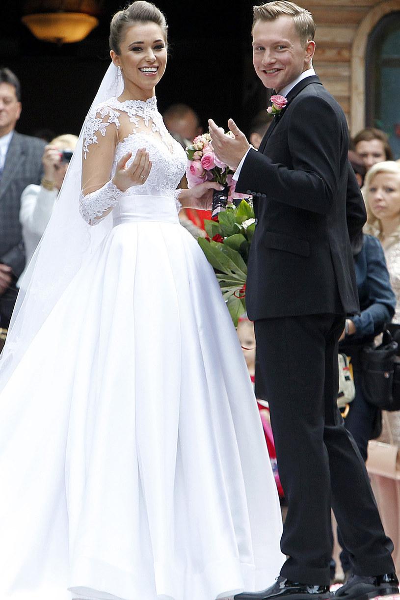 Agnieszka i Kuba Wesołowski wzięli ślub w 2014 roku /AKPA /AKPA