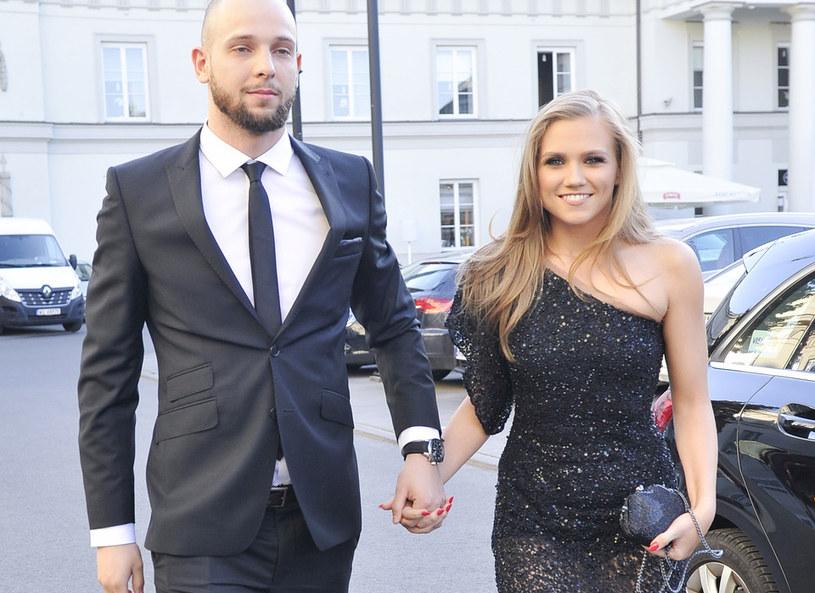 Agnieszka Kaczorowska z mężem /Niemiec /AKPA