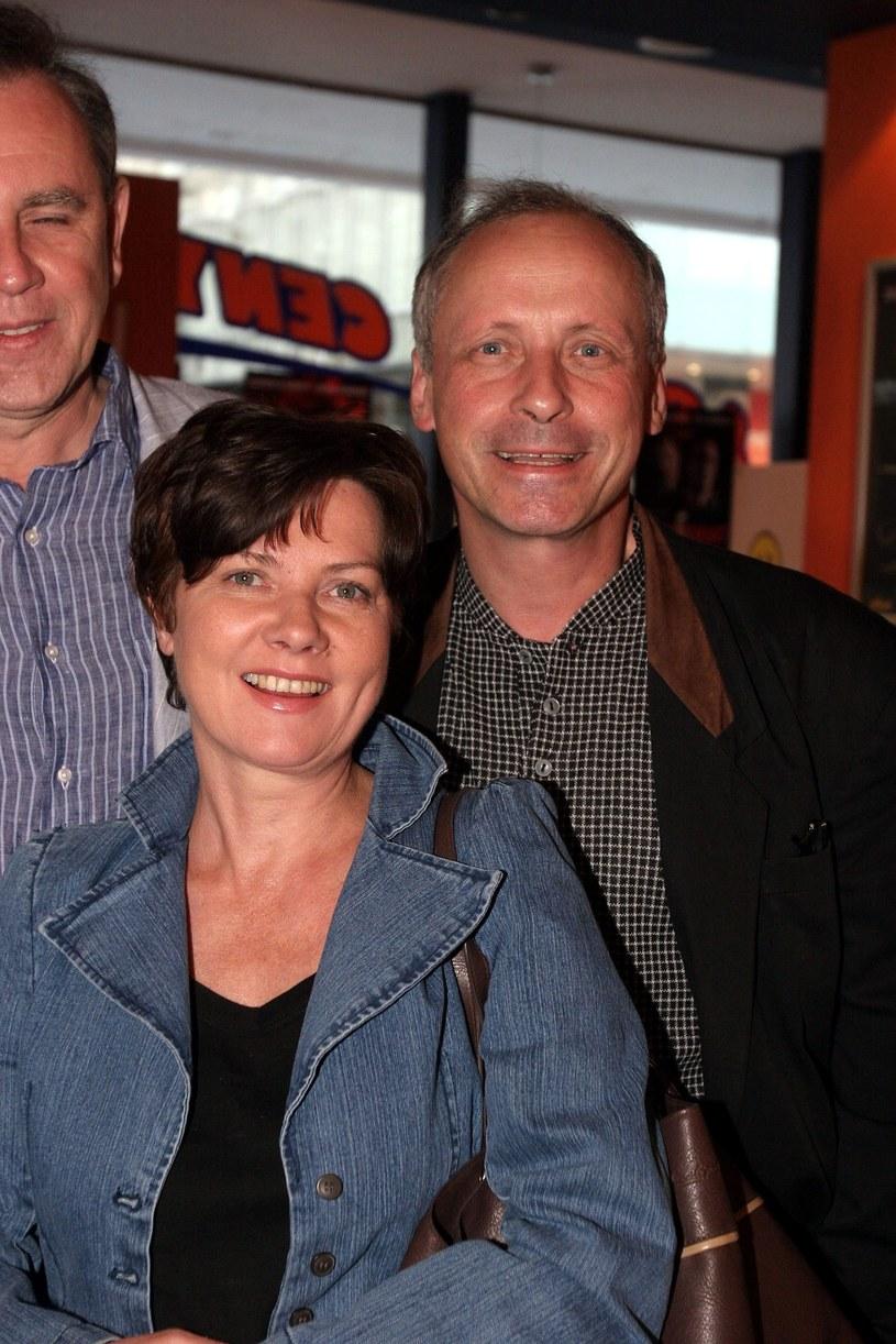 """Agnieszka Kotulanka i Pawel Wawrzecki na premierze filmu """"Lawstorant"""" (2005) /Piotr Fotek /Reporter"""