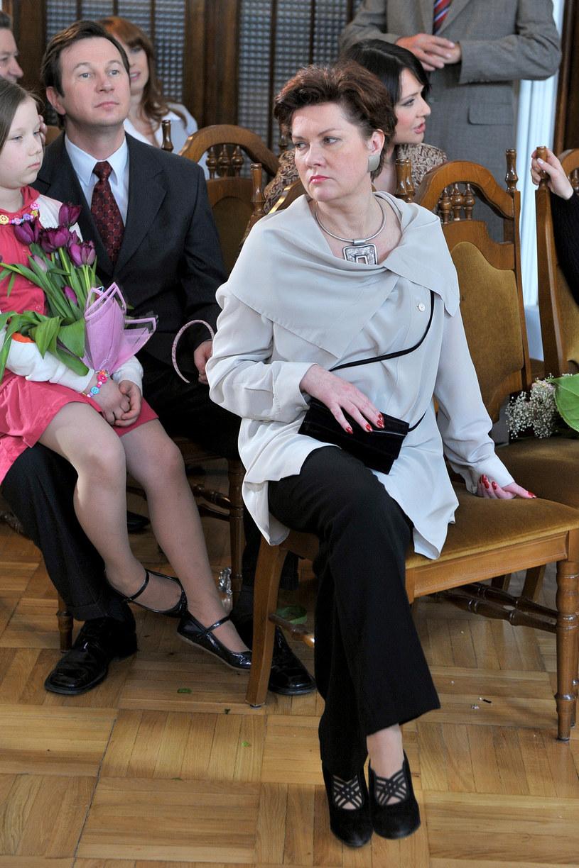"Agnieszka Kotulanka na planie ""Klanu"" /Kurnikowski /AKPA"