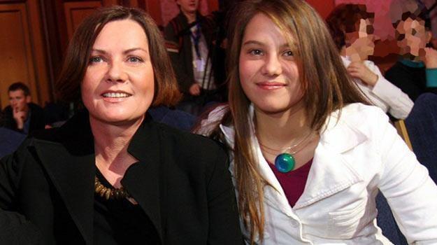 Agnieszka Kotulanka z córką Kasią 10 lat temu - fot. Piotr Fotek /Reporter
