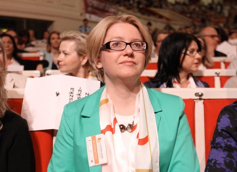 Agnieszka Kozłowska-Rajewicz na V Kongresie Kobiet w Warszawie /Stanisław Kowalczuk /East News