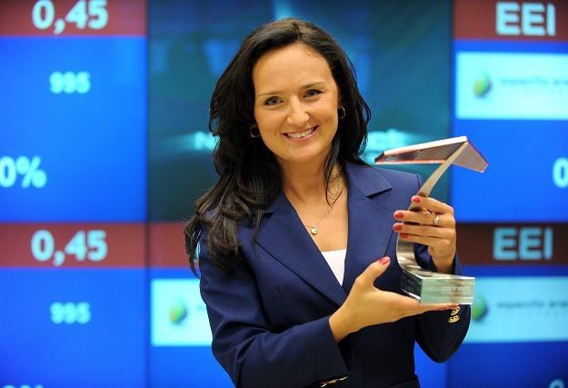 Agnieszka Król, prezes firmy EEI, w czasie debiutu na NewConnect /PAP