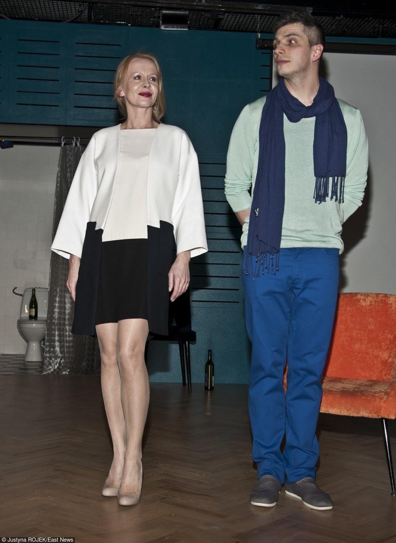 """Agnieszka Krukówna na premierze """"Klary"""" w Teatrze Powszechnym /Jacek Domiński /Reporter"""