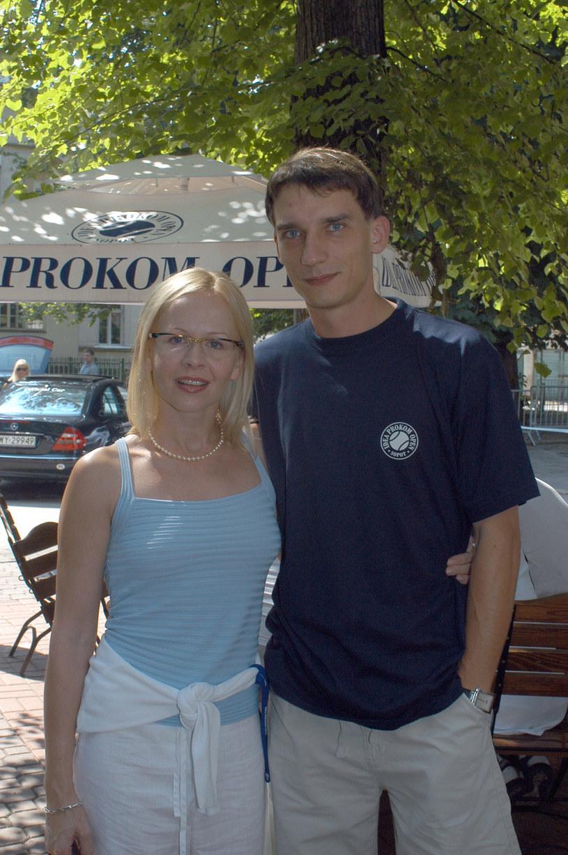 Agnieszka Krukówna z byłym mężem w 2003 roku /Mikulski /AKPA
