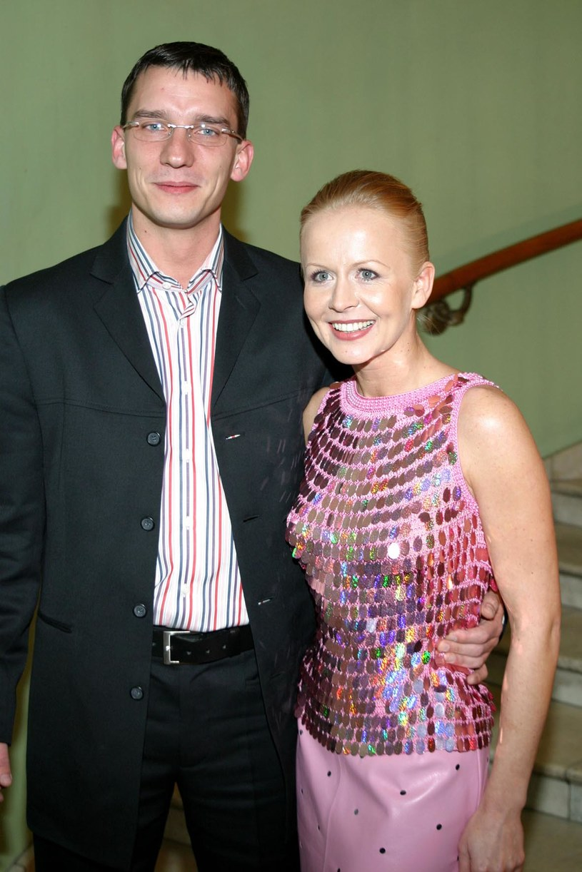 Agnieszka Krukówna z mężem Radosławem /AIM