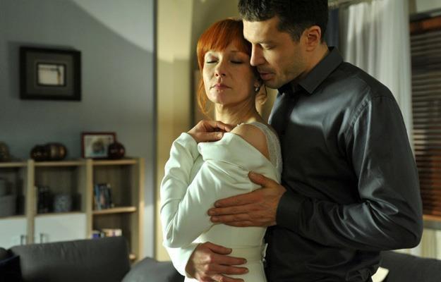 """Agnieszka (Magdalena Walach) i Tomek (Andrzej Młynarczyk) w """"M jak miłość"""" /Agencja W. Impact"""