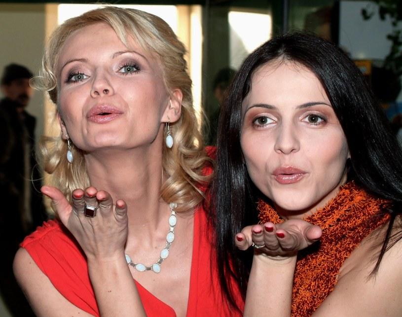 Agnieszka Michalska i Olga Borys w 2002 roku /Piotr Fotek/REPORTER /East News
