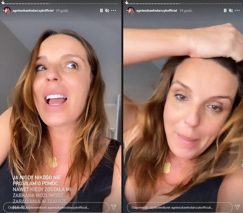 Agnieszka nie kryla oburzenia! /instagram.com/stories/agnieszkawlodarczykofficial/ /Instagram