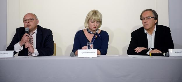 Agnieszka Odorowicz (C), Jacek Weksler (P) i Robert Kozak (L) /PAP