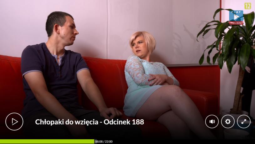 Agnieszka podczas rozmowy z Jarusiem /Polsat/Ipla /Polsat