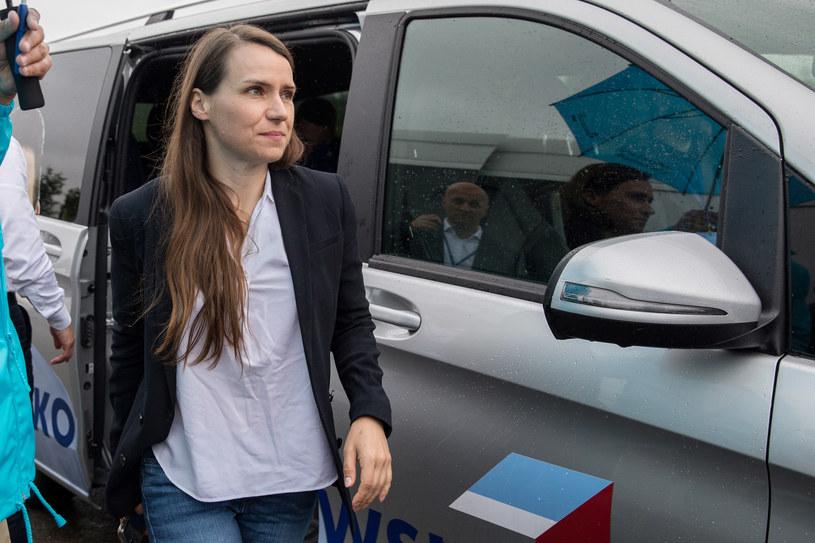 Agnieszka Pomaska podczas wizyty Rafała Trzaskowskiego na Podkarpaciu /Maciej Goclon /Agencja FORUM