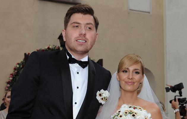 Agnieszka Popielewicz i Mikołaj Wit pobrali się w 2011 roku /Andras Szilagyi /MWMedia