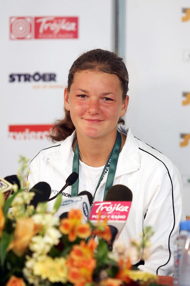 Agnieszka Radwańska - 2006 r. /Kurnikowski /AKPA