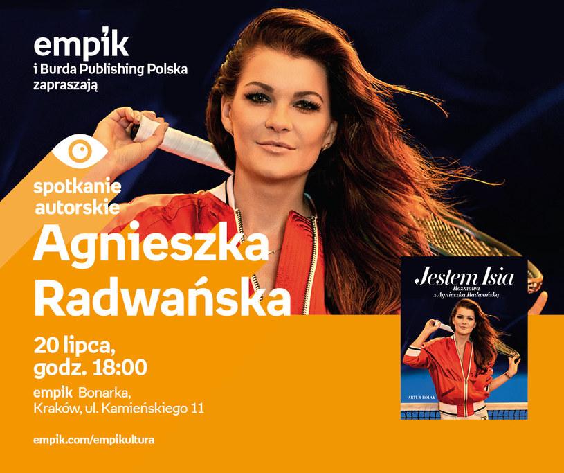 Agnieszka Radwańska będzie promować swoją biografię /Informacja prasowa