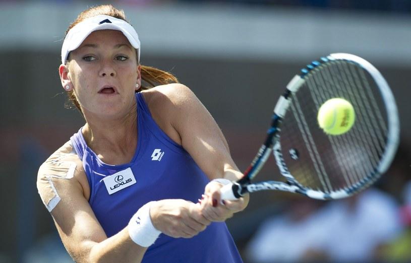 Agnieszka Radwańska gra o finał turnieju w Dausze /AFP