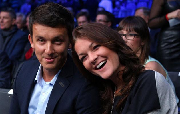 Agnieszka Radwańska i Dawid Celt /Tomasz Jagodziński /East News