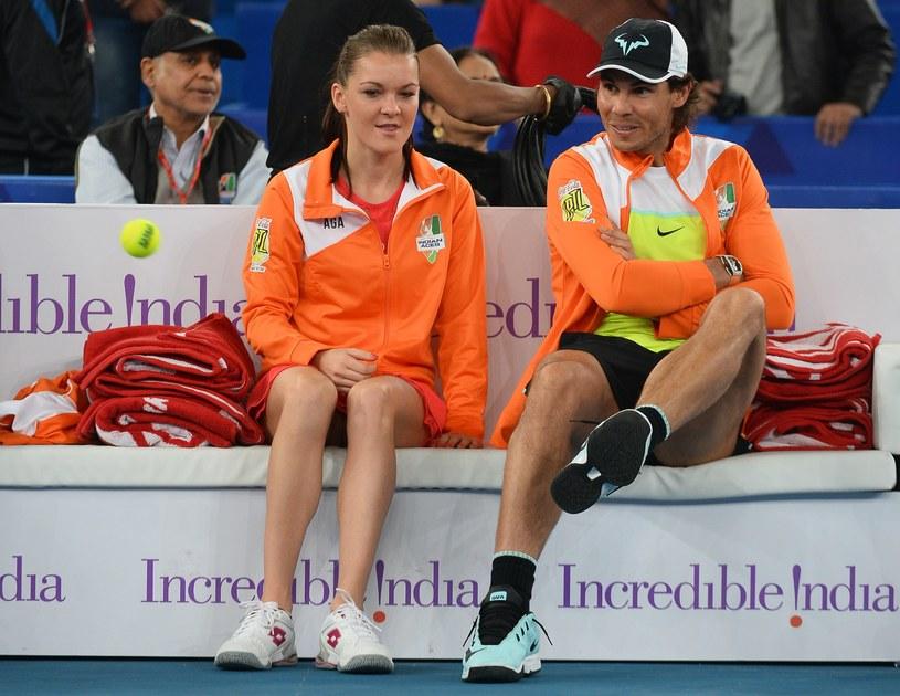 Agnieszka Radwańska i Rafael Nadal /AFP