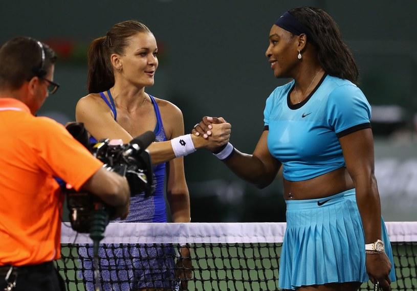 Agnieszka Radwańska i Serena Williams /AFP