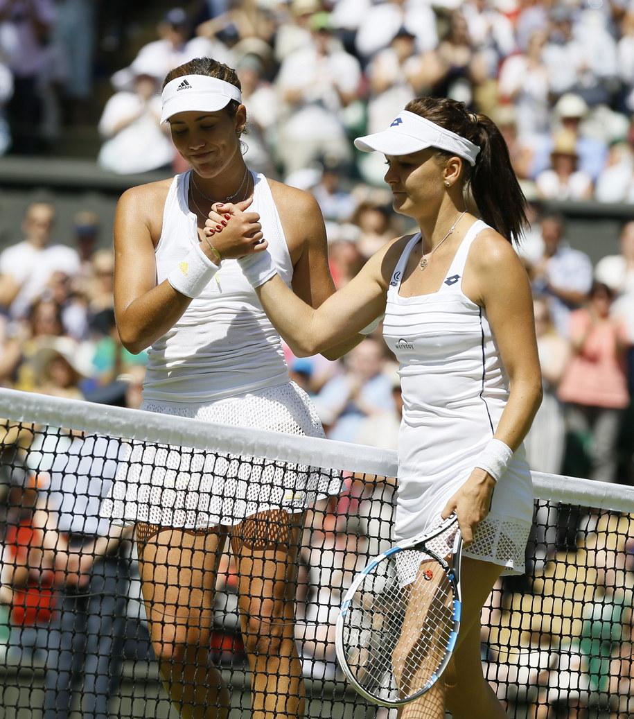 Agnieszka Radwańska jest rozczarowana po porażce w półfinale Wimbledonu /KIRSTY WIGGLESWORTH /PAP/EPA