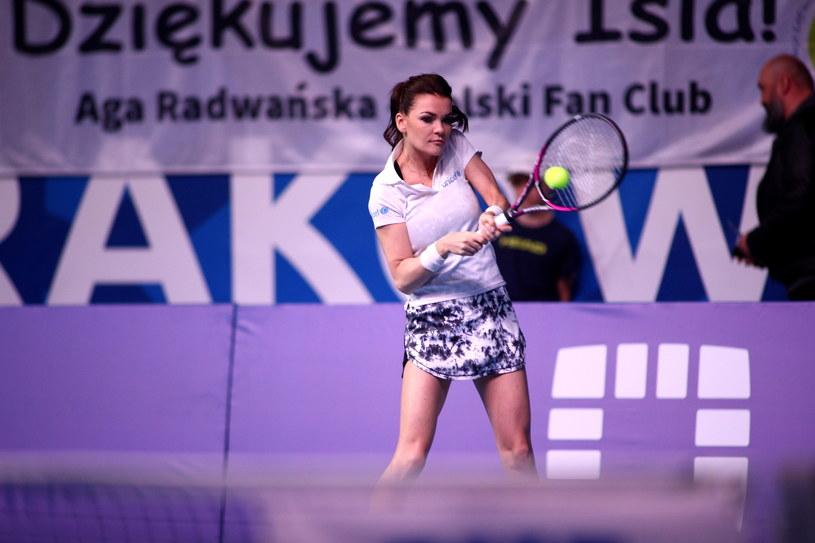 Agnieszka Radwańska jeszcze raz pojawiła się na korcie //Łukasz Gągulski /PAP