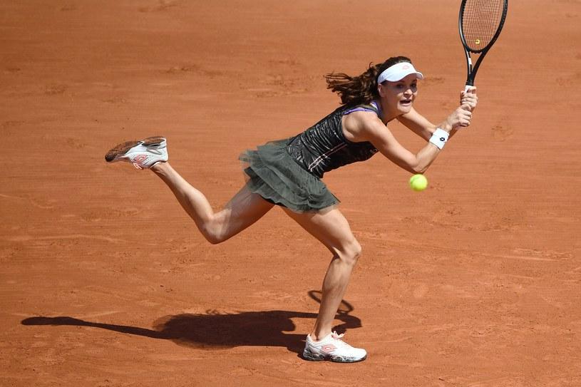 Agnieszka Radwańska na kortach Rolanda Garrosa. /AFP