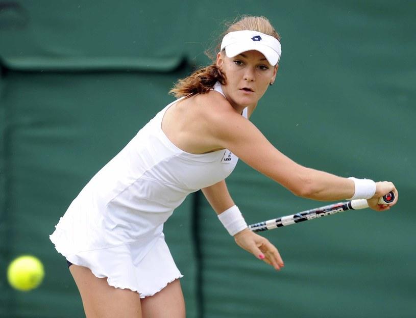 Agnieszka Radwańska na kortach Wimbledonu /- /PAP/EPA