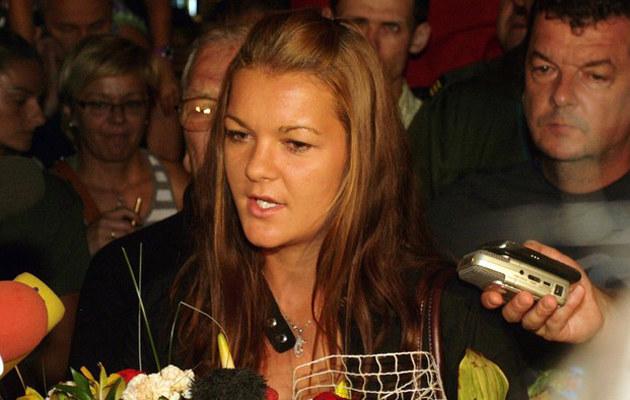 Agnieszka Radwańska na krakowskim lotnisku /Artur Barbarowski /East News