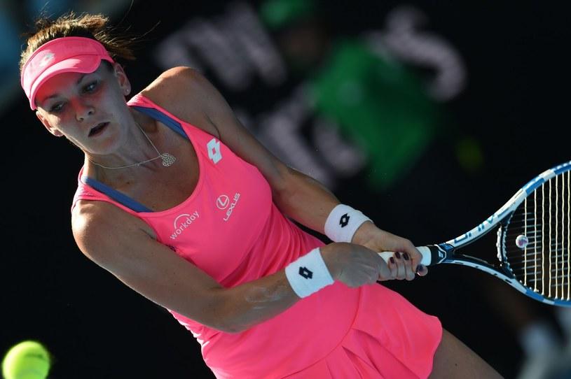 Agnieszka Radwańska na turnieju Australian Open. /AFP