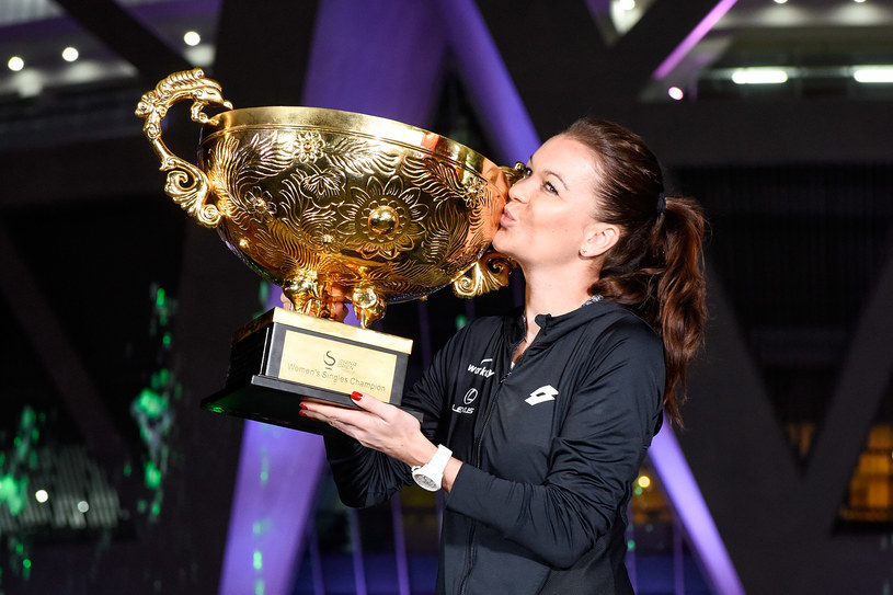 Agnieszka Radwańska after winning in Beijing in 2016 / Etienne Oliveau / Getty Images