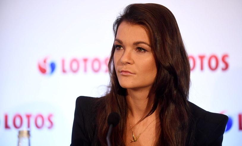 Agnieszka Radwańska podczas konferencji prasowej /Bartłomiej Zborowski /PAP