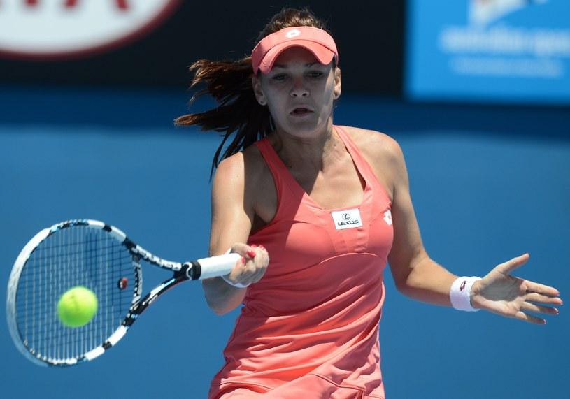 Agnieszka Radwańska podczas meczu z Australijką Bojaną Bobusic /AFP