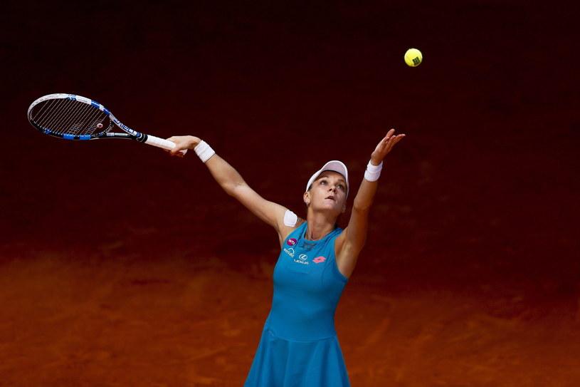 Agnieszka Radwańska podczas meczu z Caroline Wozniacki /AFP